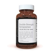 Double Strength Serrapeptase x 90 Tablets - 120,000 SPUs PER Tablet! – 3 Months Supply!