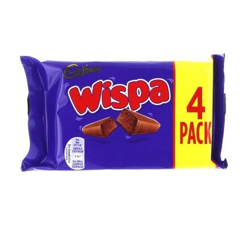 Cadbury Wispa (4 x 25.5g Chocolate Bars) 102g