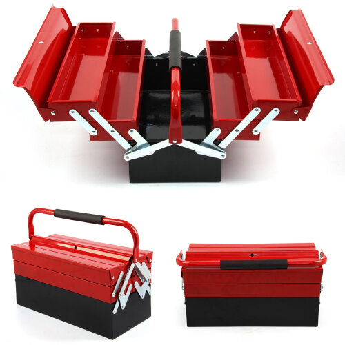 3Tier 5 Tray Heavy Duty Professional Metal Storage Cantilever Tool Box