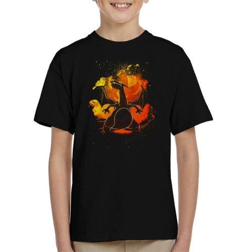 (Medium (7-8 yrs)) Soul Of Charizard Pokemon Kid's T-Shirt