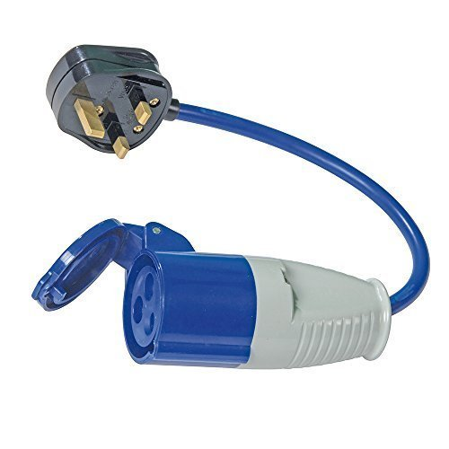 Pmaster 13a-16a Fly Lead Converter 13a Plug To 16a Socket