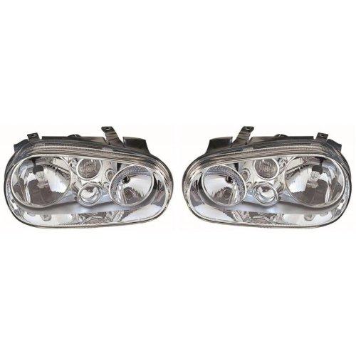 Volkswagen Golf Mk4 1998-2004 Headlights Headlamps 1 Pair O/s & N/s
