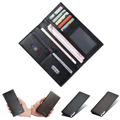 Men Long Wallet Business Travel PU Leather Billfold Pocket Credit ID Cards Holder Coin Purse