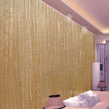 Trixes Dew Drop String Curtain   Gold String Curtain Panel