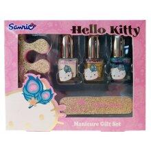 manicure Giftset girls foam gold/pink 5-piece