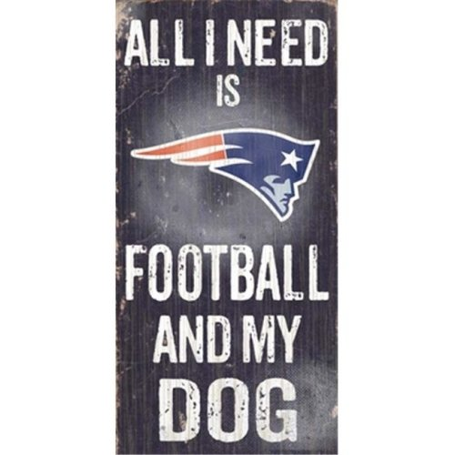 N0640 New England Patriots Football And My Dog Sign