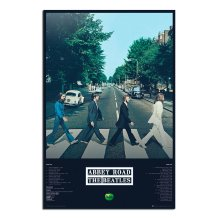 The Beatles Abbey Road Album Tracks Poster
