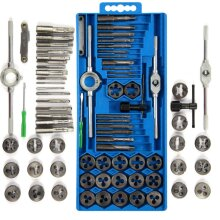 40pc Metric Wrench Tap And Die Set Cuts Bolts Engineers Kit Wit