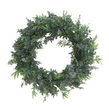 40CM Length Simulation Fern Leaf Green DIY Garland Head Ring