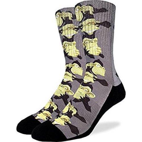 Socks - Good Luck Sock - Men's Active Fit - No Evil Monkey (8-13) 4106