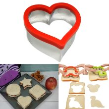 Kids Sandwich Cutter Heart Shape Cookie Biscuit Pastry Baking Stainless Steel