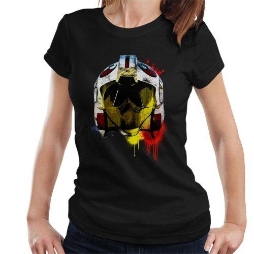Original Stormtrooper Rebel Pilot Helmet Paint Splatter Women's T-Shirt