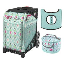 Zuca Sport Bag - Chevron with gift Lunchbox and Seat Cover  Black
