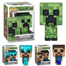 Funko Pop Minecraft Creeper Diamond Steve Figures