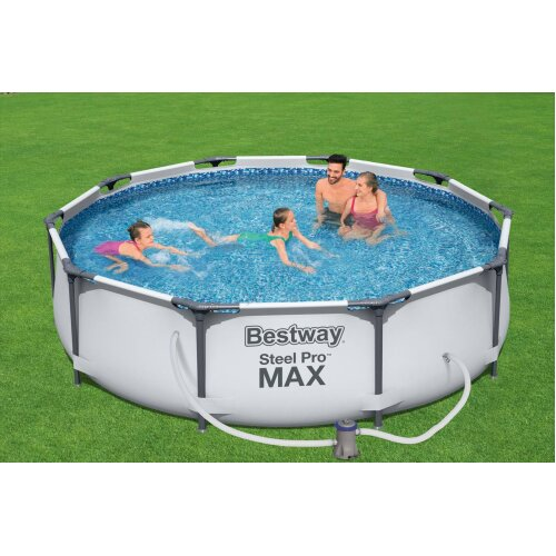 """(10'X30"""") BestWay Steel Pro Frame Swimming Pool Set Round Above Ground With Filter Pump"""