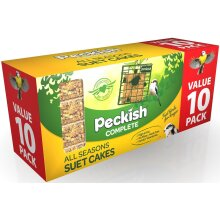 Peckish Complete Suet Cake Block for Wild Birds, Pack of 10