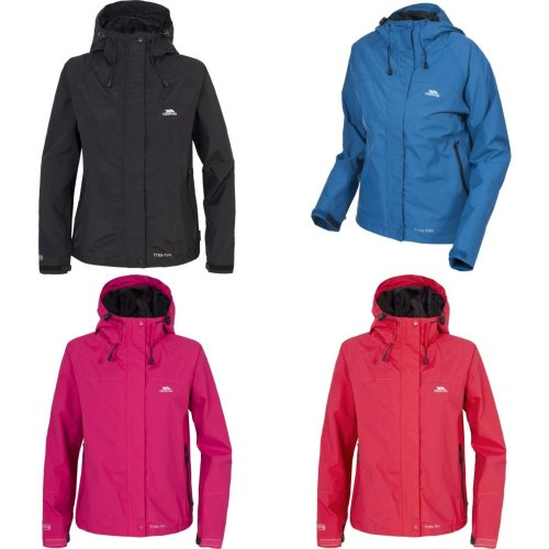 Trespass Miyake Women's Waterproof Jacket | Ladies Hooded Trespass Coat