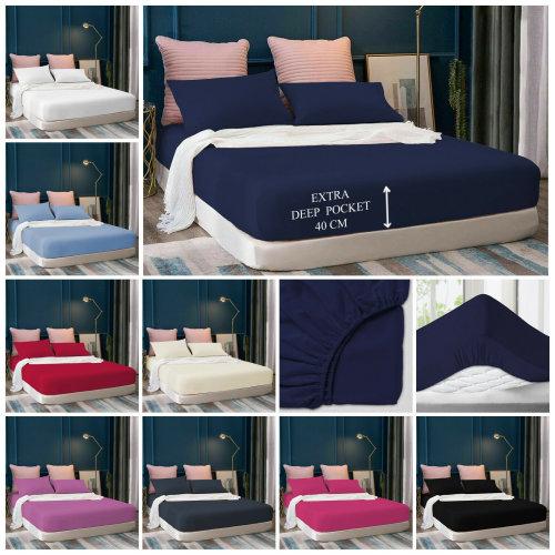 40Cm Extra Deep Fitted Sheet Bed Mattress Sheets