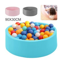 90x30cm Round Soft Balls Pit Toys for Baby Ball Pool+Pad Toddler Foam