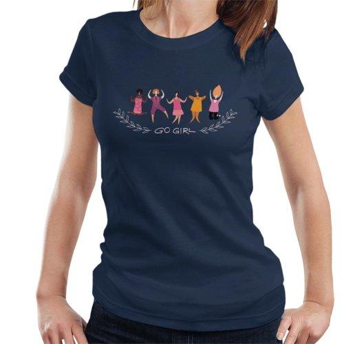 Go Girl Text Women's T-Shirt