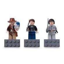 LEGO Indiana Jones Magnets Set of 3 : Indiana Jones Mutt Williams Irina Spalko