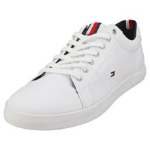 Tommy Hilfiger Iconic Long Lace Sneaker Mens Casual Trainers in White