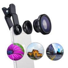 3-in-1 Wide Angle Macro Fisheye Lens Kit for iPhone Lens Lentes Mobile Phone