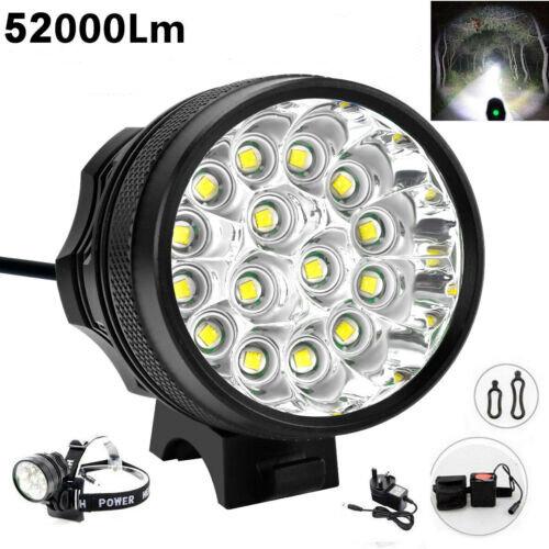 52000Lm 16x LED Cree XML Waterproof T6 Bicycle Bike Light Cycling Headlight Lamp