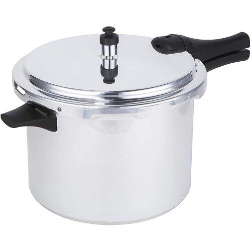 Prestige 47285 Pressure Cooker 8L Aluminium Medium Dome (with Accessories) - Induction hob Suitable Base - 12lbs PSI, Silver