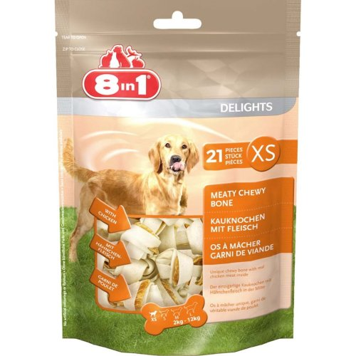 8in1 Dog Delights Rawhide Value Bag Xs (Pack of 4)