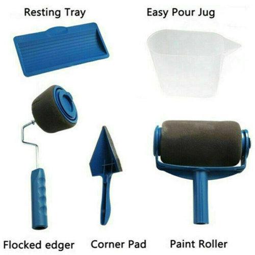 5 Pcs Multifunctional Household Use Wall Decorative Paint Roller Brush kit