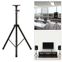 Iron Tripod PA Speaker Stands Adjustable Height DJ Disco 50Kg Black