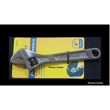 """6"""" Adjustable Spanner Wrench BLACK NICKEL Drop Forged Metric Scale 150"""