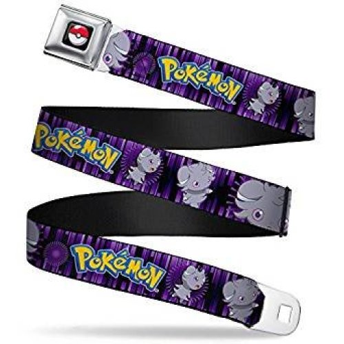 Seatbelt Belt - Pokemon - V.77 Adj 24-38' Mesh New pka-wpk123