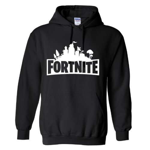 (9-10 Years, Grey) Fortnite Logo Kids Hoodie 80% cotton