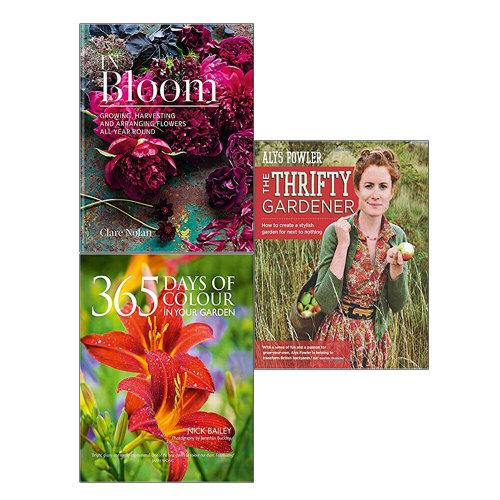 In Bloom,365 Days of Colour In Your Garden,Thrifty Gardener 3 Books