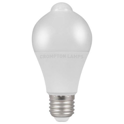 Crompton LED GLS PIR Dusk till Dawn, 10W, 3000K, ES-E27