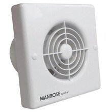 """Manrose QF100T Quiet Extractor Fan with Timer for 4""""/100mm Duct"""