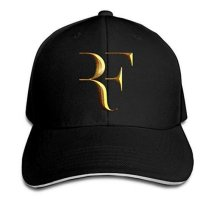 Tennis Player Roger Federer Logo Sandwich Peaked Baseball Caps/Hats