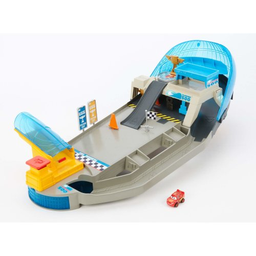Disney Pixar Cars Mini Racers Rollin Raceway Playset with Speed Launcher and Mini Toy Cars