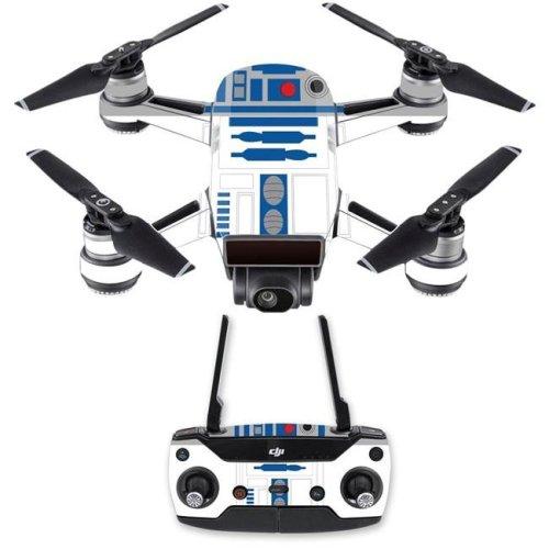 MightySkins DJSPCMB-Cyber Bot Skin Decal for DJI Spark Mini Drone Combo Sticker - Cyber Bot