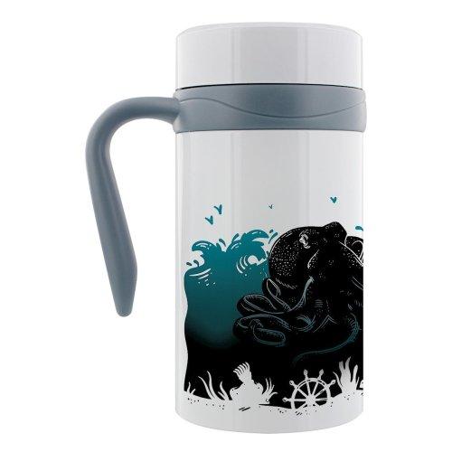 Grindstore Kraken Oceanscape Thermal Travel Mug With Handle