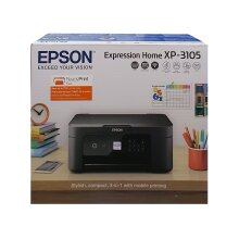 Epson Expression Home XP-3105 Wireless 3-in-1 Inkjet Printer With Ink