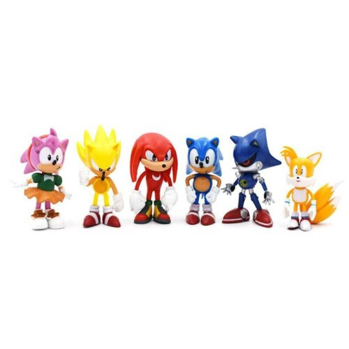 6Pcs Sonic the Hedgehog PVC Action Game Figure Model Toy Collectible Decor Gift