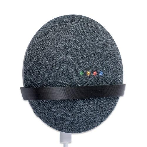 Wall Mount for Google Home Mini Wall Bracket Tiny Black P3D-Lab