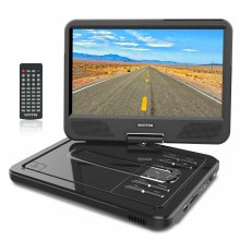 "WONNIE 12.5"" Portable DVD Player with 10.5 inches 270° Swivel Screen Built-in Rechargeable Battery SD Card and USB, Direct Play in Formats..."