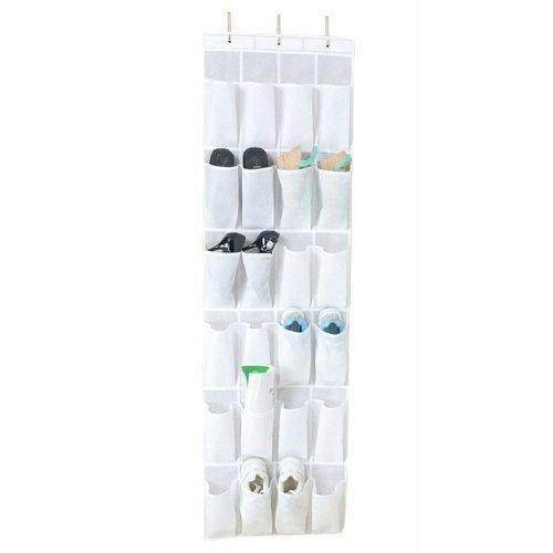 24 inch shoe rack white