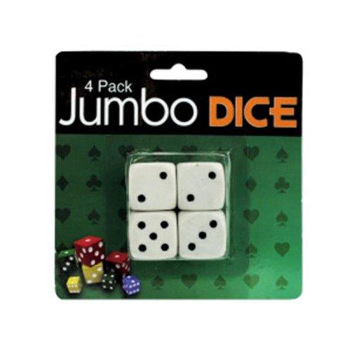 Bulk Buys GV205 Jumbo dice  pack of 4 Case of 24