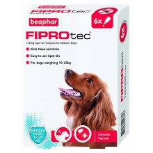 Beaphar FIPROtec Spot On Medium Dog 6 pipettes