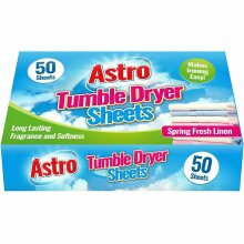 50 sheets Tumble Dryer Sheets - For Fragrance and Softness